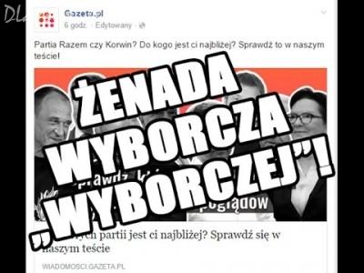 Ustawiony teścik wyborczy na wyborcza.pl